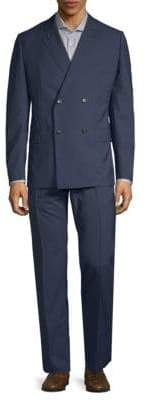 Caruso Double-Breasted Wool Suit
