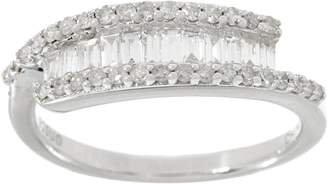 Affinity Diamond Jewelry Baguette & Round Diamond Ring, Sterling, 1/2 cttw, by Affinity