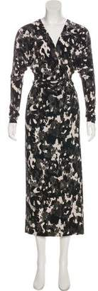 Norma Kamali Printed Maxi Dress