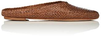 Barneys New York Women's Woven Leather Mules $225 thestylecure.com