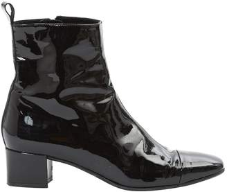 Carel Patent Leather Ankle Boots