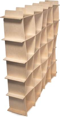 Sprout Kids 25 Cubby Wave Mid-Century Bookcase