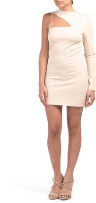 One Shoulder Splice Dress