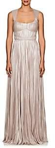 J. Mendel Women's Shimmering Plissé Gown-Pearl
