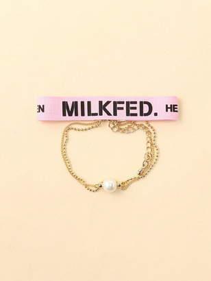 Milkfed. (ミルクフェド) - MILKFED. TRIPLE RIBBON BRACEL ミルクフェド アクセサリー