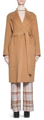Acne Studios Belted Wool-Cashmere Coat