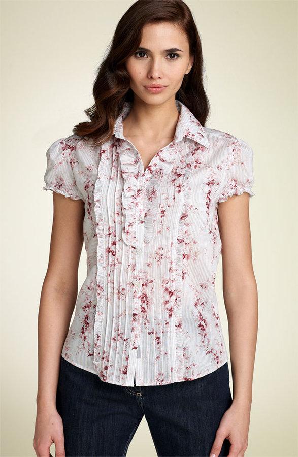 Façonnable Short Sleeve Ruffle Shirt