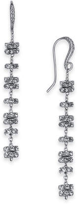 INC International Concepts I.n.c. Silver-Tone Pave Rondelle Bead Linear Drop Earrings