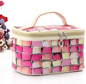 AG Jeans rie Multifunction Travel Cosmetic Makeup Pouch Toiletry Zipper Wash