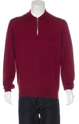 Hermes Cashmere Polo Zip Sweater