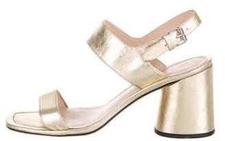 Marc Jacobs Metallic Ankle Strap Sandals