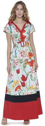 Alice + Olivia Margot Short Sleeve Maxi Dress