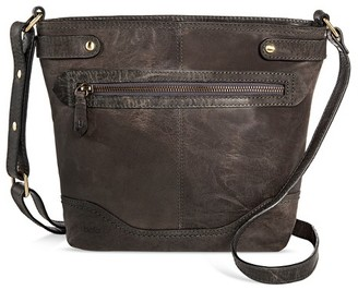 Bolo Born Women's Leather Crossbody Handbag with Zip Closure $79.99 thestylecure.com
