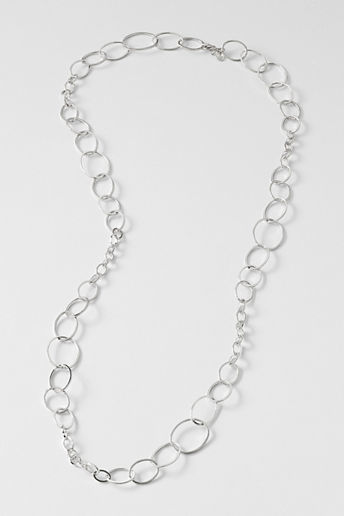 Lands' End Women's Oval Rings Long Necklace