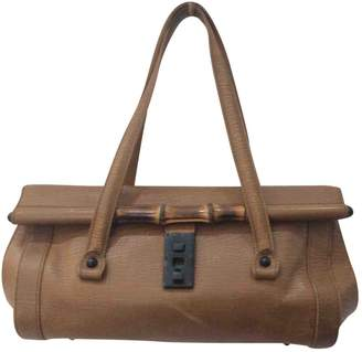 Gucci Bamboo Camel Leather Handbag