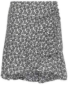 A.L.C. Farrow Printed Silk Crepe De Chine Mini Skirt