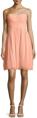 Donna Morgan Strapless Ruched Cocktail Dress $189 thestylecure.com