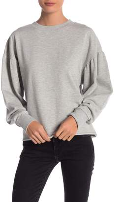 Elan International Bubble Sleeve Crew Neck Pullover