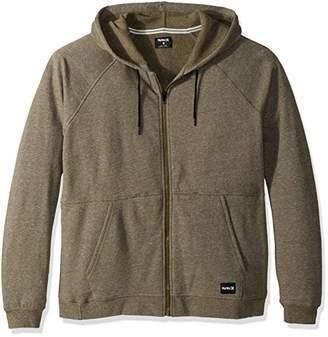 Hurley Men's Crone Marled Texture Hoodie Zip Fleece