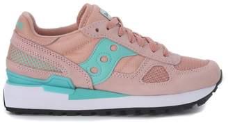 Saucony Shadow Pink And Aqua Green Sneaker