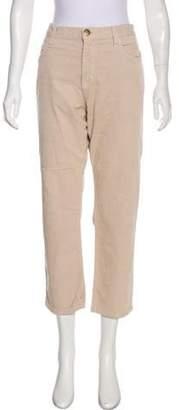 Current/Elliott Corduroy Mid-Rise Pants Khaki Corduroy Mid-Rise Pants
