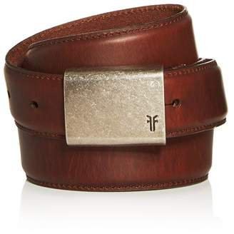 Frye Smooth Leather Plaque Belt