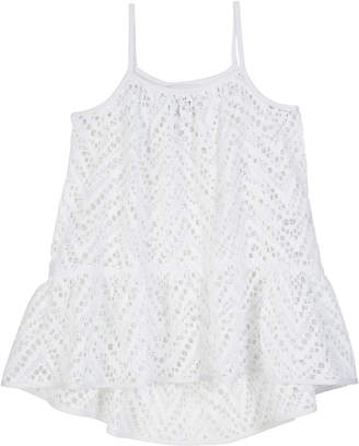 Milly Chevron Crochet High-Low Coverup, Size 4-6