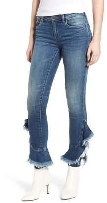 Blank NYC BLANKNYC Read Raw Ruffle Hem Jeans