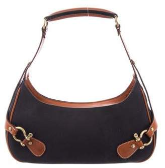 Burberry Leather-Trimmed Shoulder Bag
