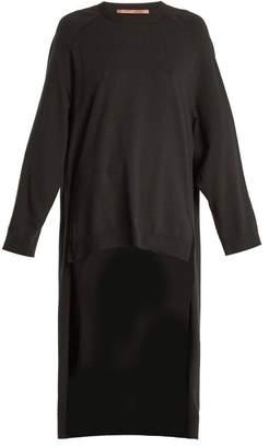 Summa - Step Hem Cashmere Blend Sweater - Womens - Black