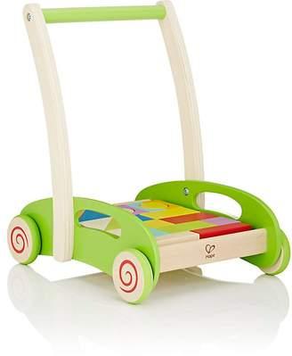 Hape Toys Block & Roll Push Cart