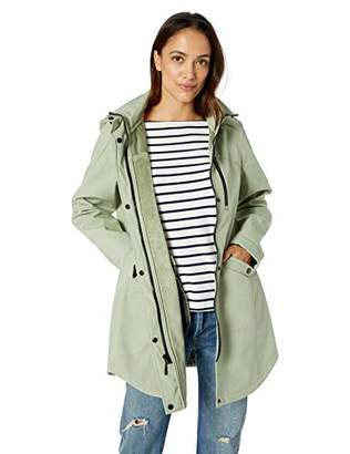 Kristen Blake Women's Petite Soft Shell Water-Repellent Hooded Jacket