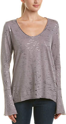 Michael Stars Shimmer Bell Sleeve Top