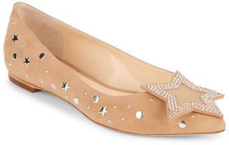 Isa Tapia Ganna Star Suede Ballet Flat