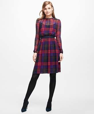 Plaid Chiffon Dress $138 thestylecure.com