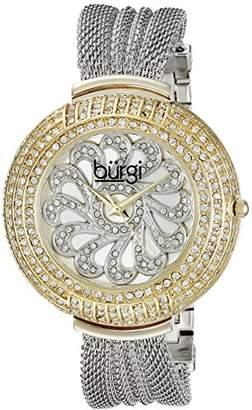 Burgi Women's BUR051TTG Analog Display Japanese Quartz Silver Watch