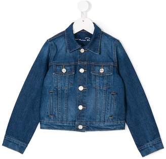 Oscar de la Renta Kids Jungle monkey denim jacket
