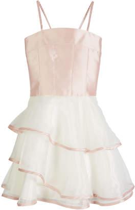 Zoe Addison Spaghetti Strap Matte Sateen & Organza Dress Size 4-6X