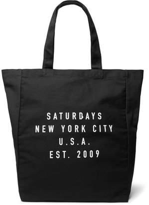 Saturdays NYC Printed Cotton-Canvas Tote Bag