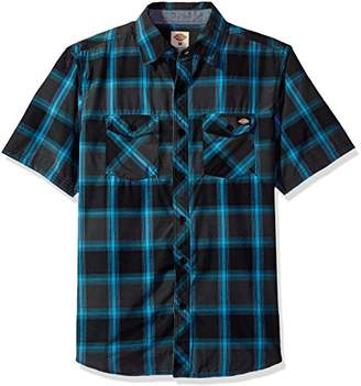 Dickies Men's Regular Fit Short Sleeve Fashion Pocket Plaid Shirt
