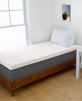 "Authentic Comfort Twin Xl 4"" Dorm Memory Foam Mattress Topper"