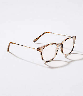 LOFT Metallic Arm Keyhole Reading Glasses