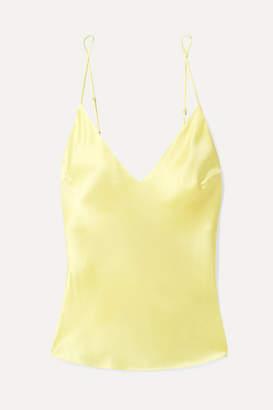 Fleur Du Mal Silk-satin Camisole - Pastel yellow