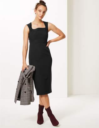 Marks and Spencer Square Neck Bodycon Midi Dress
