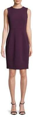 Calvin Klein Sleeveless Scuba Crepe Sheath Dress