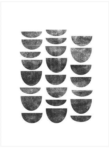 Scandinavian Geometry by Brett Wilson Unframed Wall Art Print