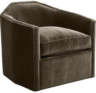 Mr & Mrs Howard Speakeasy Swivel Glider Chair - Mink Velvet