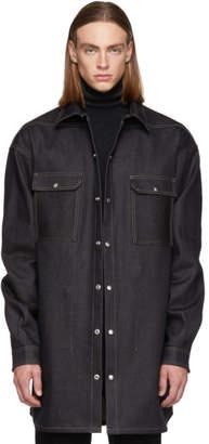 Rick Owens Indigo Denim Oversized Outershirt