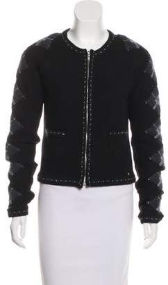 Chanel Metallic Argyle Cardigan