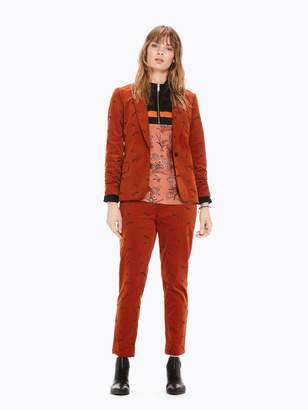 Scotch & Soda Embroidered Corduroy Blazer